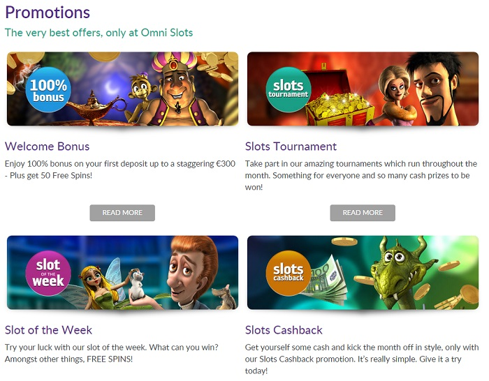 Omnislots Casino Screenshot Promoties